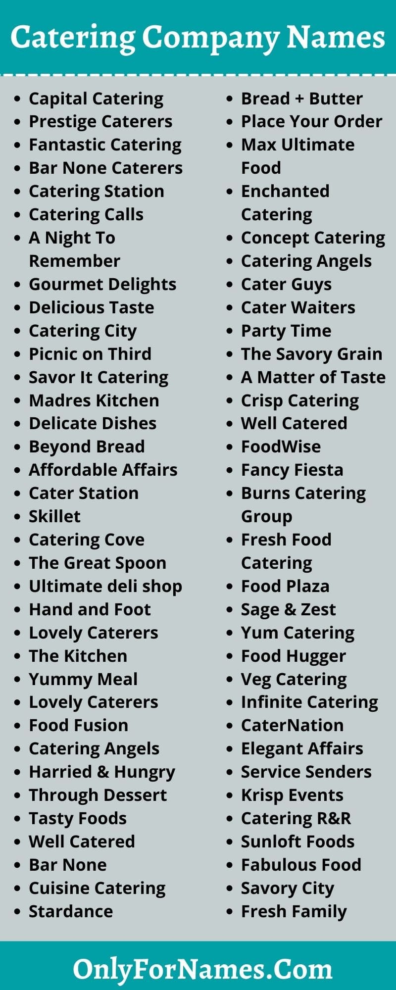 Catering Company Names