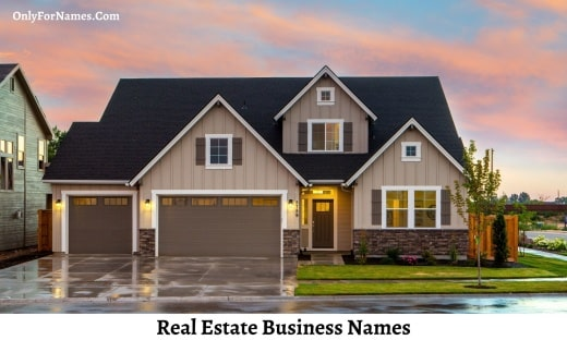 Real Estate Business Names