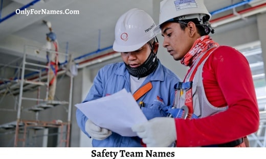 Safety Team Names
