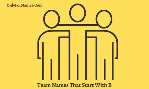 Team Names That Start With B